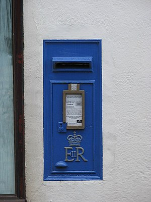 English: Blue Postbox