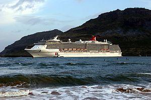 Carnival Spirit departing from Kauai