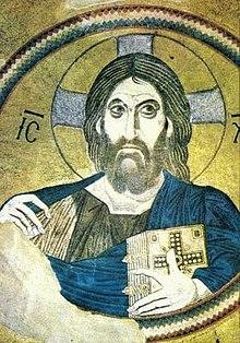 ציור קיר יווני- אורתודוקסי של ישו מהמאה ה-11