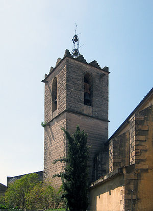 English: Church tower of the Església dels san...