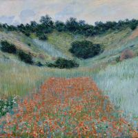 """Poppy Field in a Hollow near Giverny"" by Claude Monet"