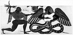Combat de Zeus contre Typhon
