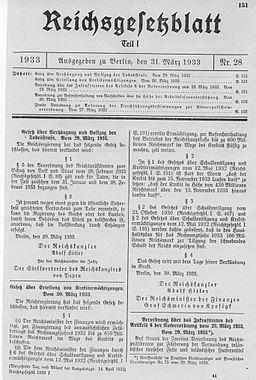 Gesetz über Verhängung und Vollzug der Todesstrafe 1933