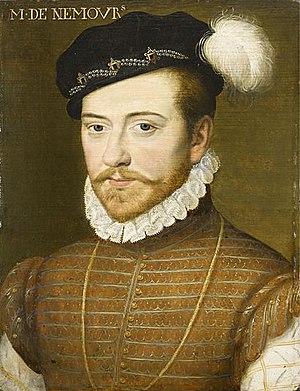Portrait de Jacques de Savoie, duc de Nemours....
