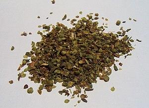 Dried oregano for culinary use.