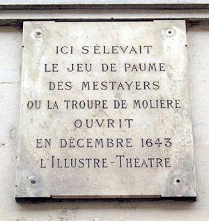 Français : Plaque apposée au n° 12 de la rue M...