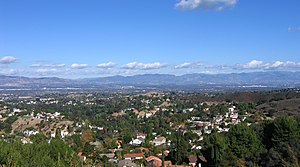 Section of the San Fernando Valley from southw...