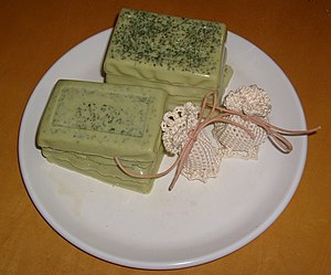 Handmade herbal soap and sachet pouches. Glyce...