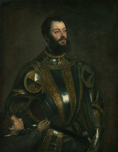 Портрет Альфонсо д'Авалоса, в доспехе и с пажом