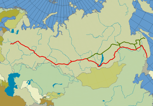Trans siberian railroad large