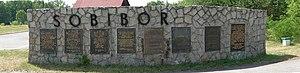 Sobibór - Mémorial à l'entrée du camp.