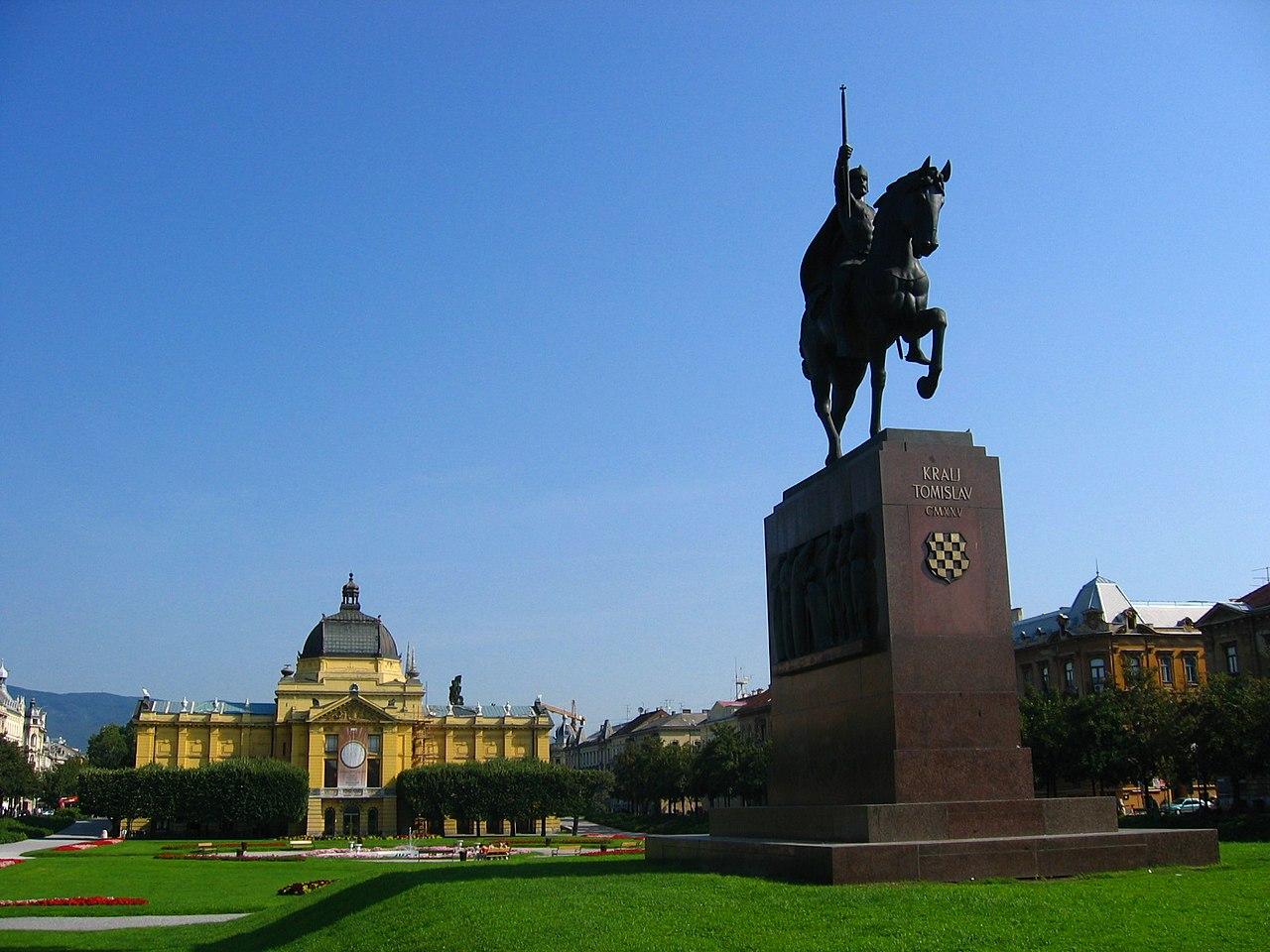 File Zagreb King Tomislav Jpg Wikimedia Commons