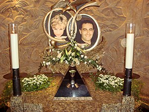 English: One of the two memorials to Diana, Pr...