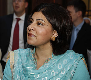 Baroness Warsi, minister without portfolio, sp...