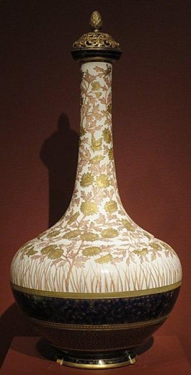 Covered vase, probably Edward Lycett, Metropolitan Museum of Art