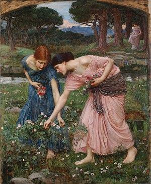 "English: ""Gather ye rosebuds while ye may..."