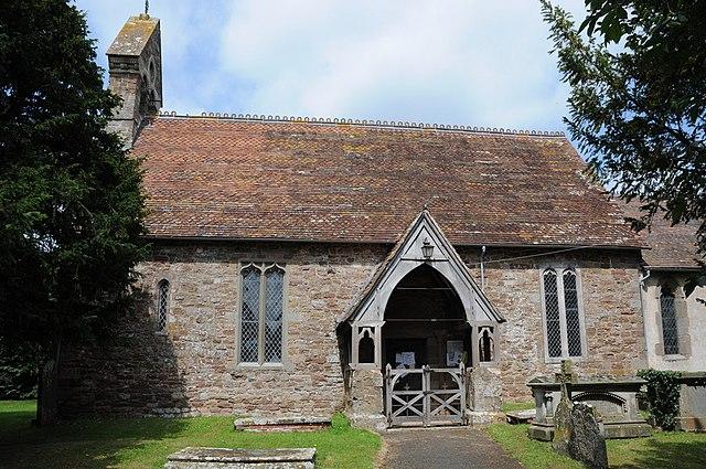 Nave and porch of St James' parish church, Greete, Shropshire