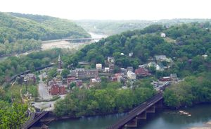 Harper's Ferry seen from Maryland side of Poto...