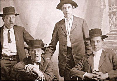Group of Irishmen in Argentina in the 19th century.