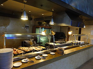 Part of the breakfast buffet in the Leonardo H...