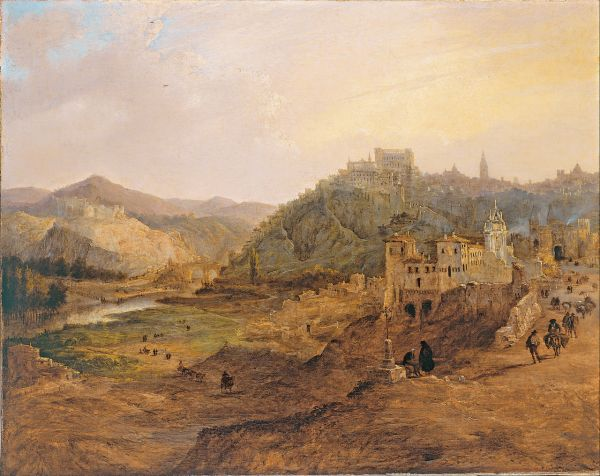 View of Toledo Painting