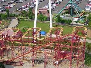 Road Runner Express wild mouse roller coaster ...