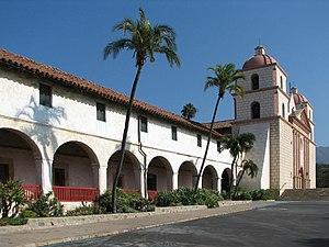 English: Mission Santa Barbara, Santa Barbara,...
