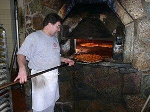 Modern's famous brick oven. Modern Apizza in N...