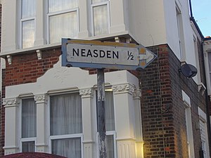 English: Pre-worboys sign Neasden, near to Wil...