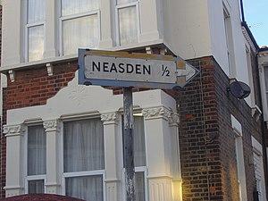 English: Pre-worboys sign Neasden, near to Wil...