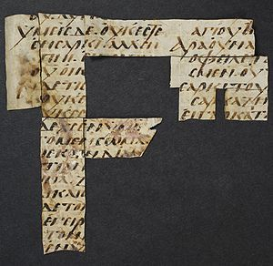 "It contains fragments of the ""Epistle to ..."