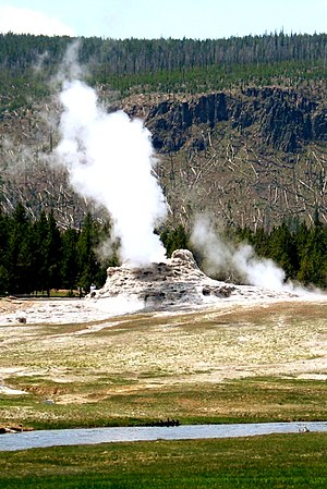 Castle Geyser in the Yellow Stone National Park.