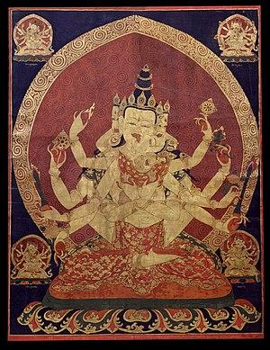 17th century Central Tibeten thanka of Guhyasa...