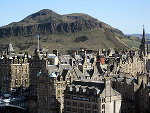 English: Arthur's Seat in Edinburgh in Scotlan...
