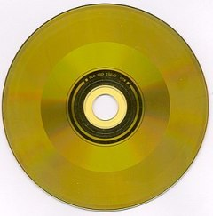 A CD Video Disc (playing side) produced in 1987.