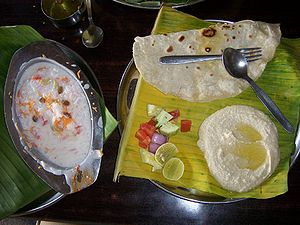 Hummus and curd-rice at The Mango Tree, Hampi