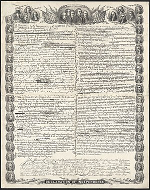 Facsimile of the original draft of the United ...