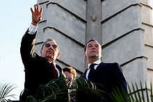 Castro with Russian Prime MinisterDmitry Medvedev