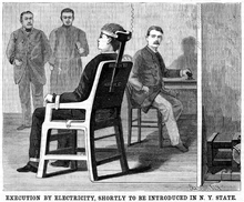 electric chair was invented by white nailhead wikipedia a june 30 1888 scientific american illustration of what the suggested gerry commission might look like