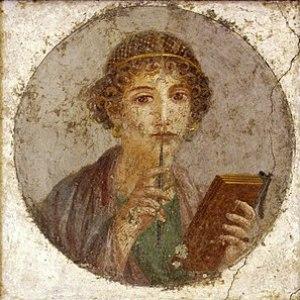 Fresco of a Roman woman from Pompeii, c. 50 CE.