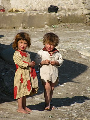 Inseparable Afghan friends