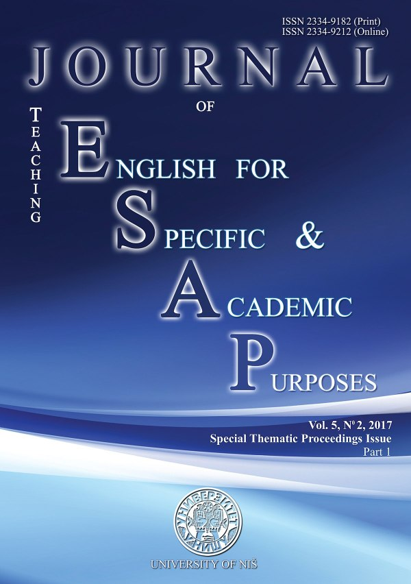 Journal Of Teaching English Specific And Academic
