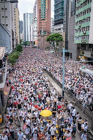 2019年6月9日香港反對逃犯條例修訂草案遊行 - 維基百科,自由的百科全書