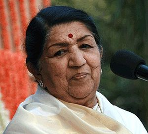 English: Indian singer Lata Mangeshkar