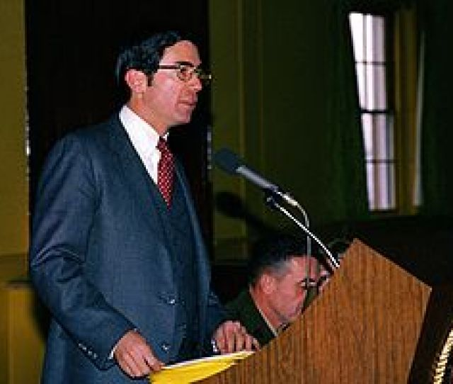Lt Governor Robb Speaks To Guests At A Luncheon During The Virginia General Assemblys Tour Of Marine Corps Base Quantico On February 1 1981