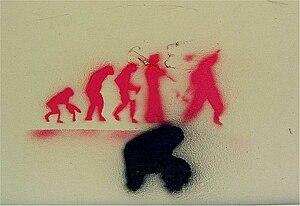 Italiano: MB Monza graffiti 2011 - stencil evo...
