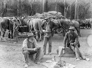 Meal break for teamsters and horses from The P...