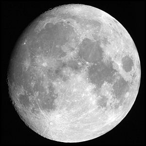 The Moon as seen by an observer from Earth. So...