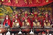 羅村太祖廟內五位大神神像(攝於 廣東省茂名市區高州市 羅村社