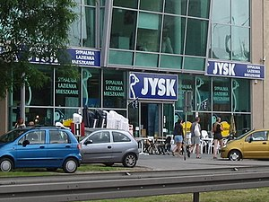 Jysk shop in Gdynia, Poland.
